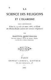 La science des religions et l'islamisme: deux conférences