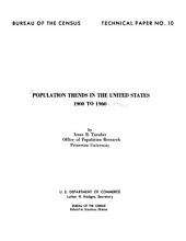 Population Trends in the United States, 1900 to 1960: Volume 3