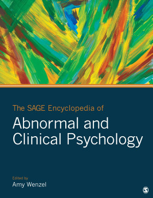The SAGE Encyclopedia of Abnormal and Clinical Psychology PDF