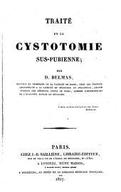 Traité de la cystotomie sus-pubienne