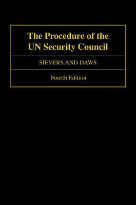 The Procedure of the UN Security Council PDF
