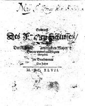 Entwurf des Friedensschlußes im Namen der Römischen Kaiserlichen Majestät Herren Gevollmächtigten übergeben im Brachmonat des Jahrs MDCXLVII