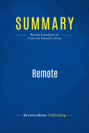 Summary: Remote