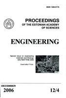 Proceedings of the Estonian Academy of Sciences  Engineering PDF