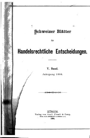 Schweizer bl  tter f  r handelsrechtliche entscheidungen PDF