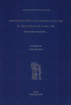 Festschrift f  r Rykle Borger zu seinem 65  Geburtstag am 24  Mai 1994