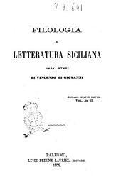 Filologia e letteratura siciliana: Volume 3