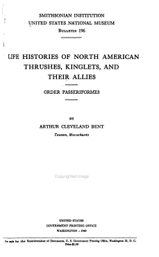 Life Histories of North American Thrushes  Kinglets  and Their Allies PDF