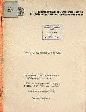 Proyecto Regional de Seguridad Alimentaria PDF