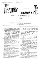 The Heating and Ventilating Magazine: Volume 9