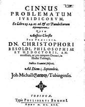 Cinnus problematum iuridicorum ex libro 23 - 27. Pandectarum depromptorum