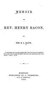 Memoir of Reverend Henry Bacon