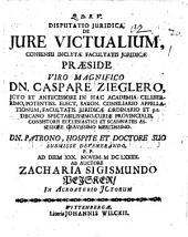 Disp. ... de iure victualium