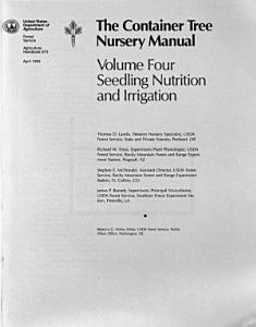 The Container Tree Nursery Manual  Seedling nutrition and irrigation PDF