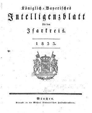 K  niglich bayerisches Intelligenzblatt f  r den Isarkreis PDF