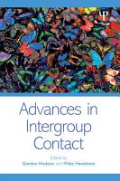 Advances in Intergroup Contact PDF