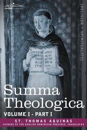Summa Theologica, Volume 1: Part 1
