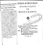 Chef-d'oeuvres dramatiques de Beauchamps