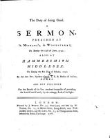 The Duty of Doing Good  A Sermon Preached     the 14th of June  1752  Etc PDF