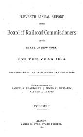 Annual Report of the Board of Railroad Commissioners of the State of New York for the Fiscal Year Ending ...: Volume 1