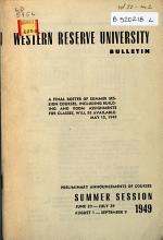 Western Reserve University Bulletin PDF