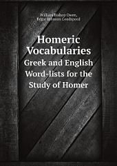 Homeric Vocabularies