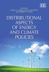 Distributional Aspects of Energy and Climate Policies