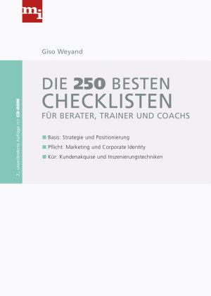 Die 250 besten Checklisten f  r Berater  Trainer und Coaches PDF