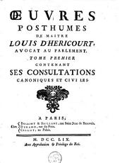 Oeuvres posthumes: Volume1