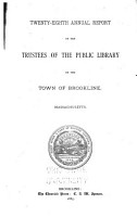 Annual Report of the Trustees of the Public Library of the Town of Brookline PDF