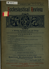 The American Ecclesiastical Review;: A Monthly Publication for the Clergy, Volume 27, Issue 2