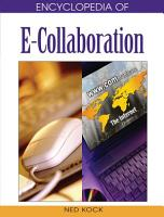 Encyclopedia of E Collaboration PDF