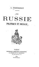 La Russie, politique et sociale