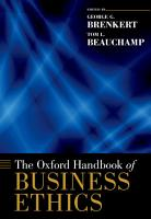 The Oxford Handbook of Business Ethics PDF