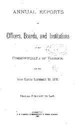 Annual Reports of Officers  Boards and Institutions of the Commonwealth of Virginia PDF