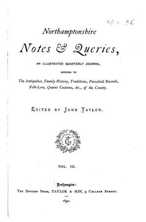 Northamptonshire Notes and Queries PDF