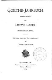 Goethe-Jahrbuch: Band 16