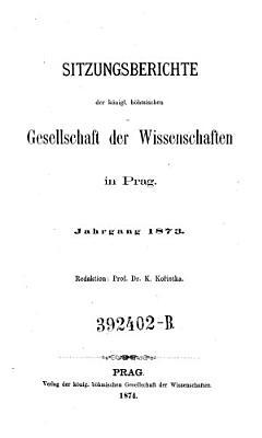 Sitzungsberichte der K  nigl  B  hm  Gesellschaft der Wissenschaften in Prag PDF