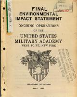 Ongoing Operations of the United States Military Academy PDF