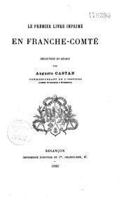 Le premier livre imprimé en Franche-Comté
