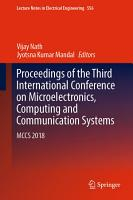 Proceedings of the Third International Conference on Microelectronics  Computing and Communication Systems PDF