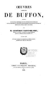 Oeuvres completes de Buffon, précédes d'une notice historique et de considérations générales sur le progrés et l'influence philosophique des sciences naturelles depuis cet auteur jusqu'a nos pours: Volume2
