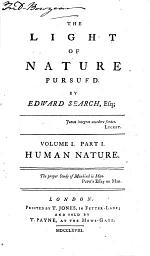 The Light of Nature Pursued: Human nature