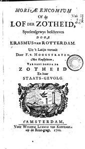 Moriae encomium, of de lof der zotheid