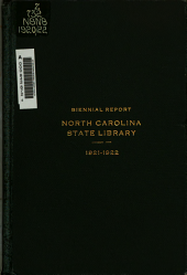 Biennial Report of the North Carolina Library Commission