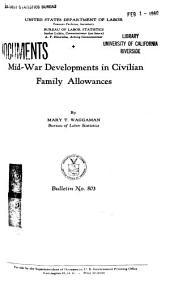 Mid-war Developments in Civilian Family Allowances: Issue 803
