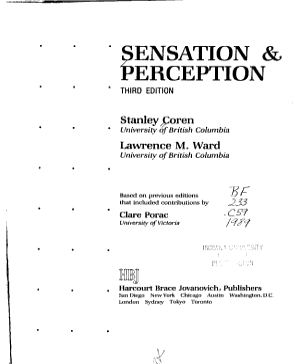 Sensation   Perception PDF