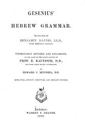 Gesenius s Hebrew Grammar with Reading Book PDF