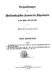 Verhandlungen in der Kammer der Abgeordneten des Königreichs Würtemberg im Jahre ...: Band 3