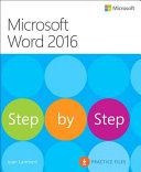 Microsoft Word 2016 Step by Step PDF
